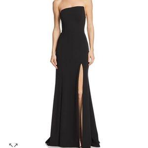 Strapless Scuba-Crepe Gown